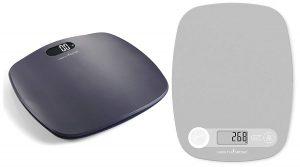 HealthSense Ultra-Lite PS 126 Digital Personal Body Weight Scale & HealthSense Chef-Mate KS40 Digital Kitchen Food Weighing Scale