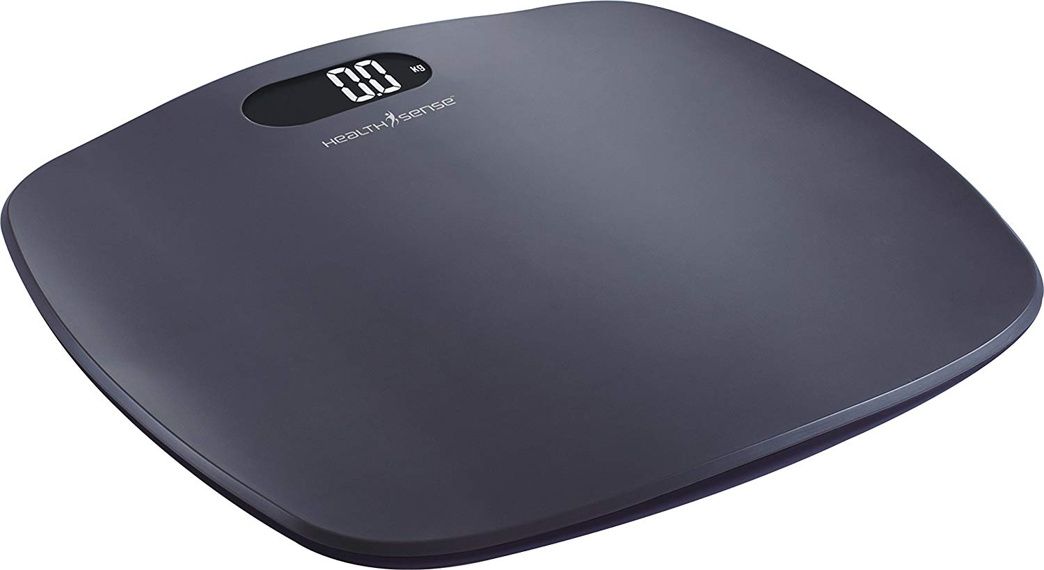 Health Sense PS 126 Digital Personal Body Weight Bathroom Scale with Step-On Technology (Grey)